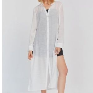 Urban Outfitters Long Sleeve Button Down Tunic